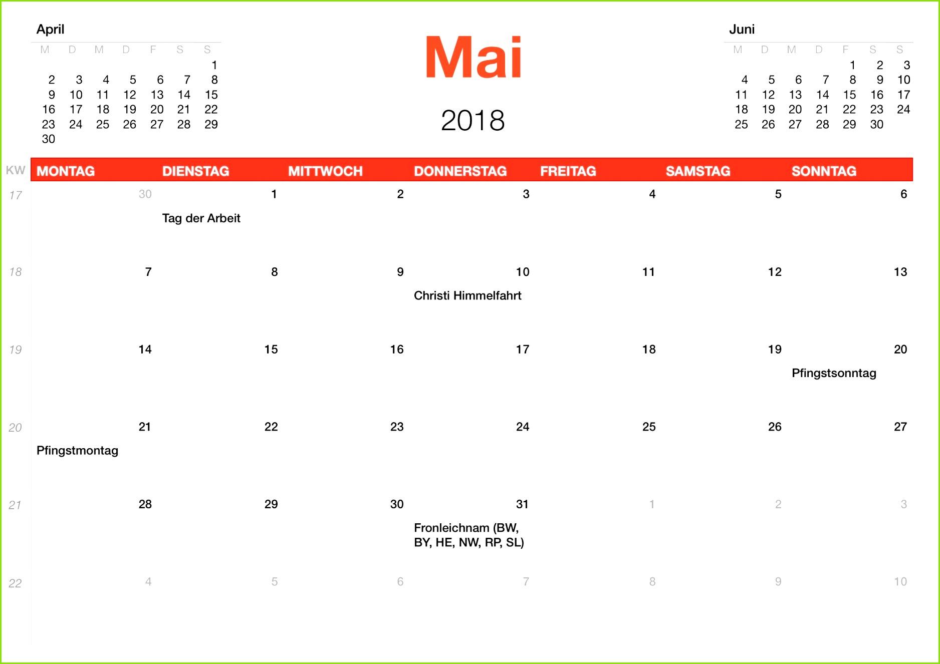 11 Monatsplan Vorlage
