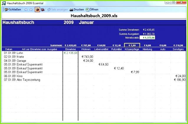 excel vorlage haushaltsbuch freeware
