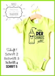 Individuelle Baby Bodys mit Namen