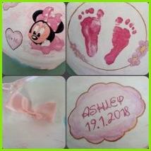 Baby Füße Minnie Mouse Baby Bauch bemalen
