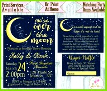 Over The Moon Baby Shower Moon and Stars baby shower Gender Neutral Love