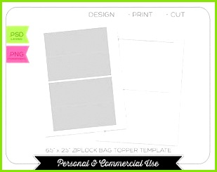Ziplock Bag Topper Template INSTANT DOWNLOAD PRINTABLE Make your own party printables