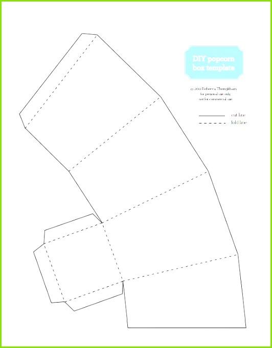 popcorn box template 10 free sample example format