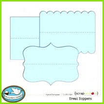 Treat Toppers hybrid template by WendyBird Designs Gift Envelope Scrapbooking Layouts Scrapbook Cards