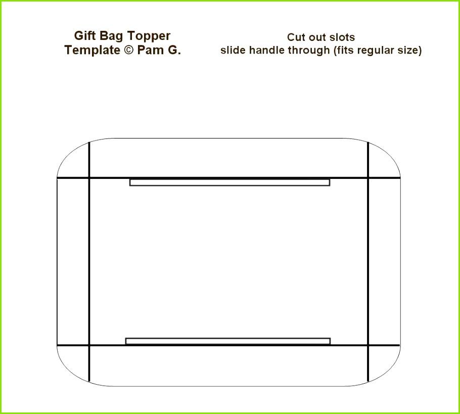 Bag topper template I made
