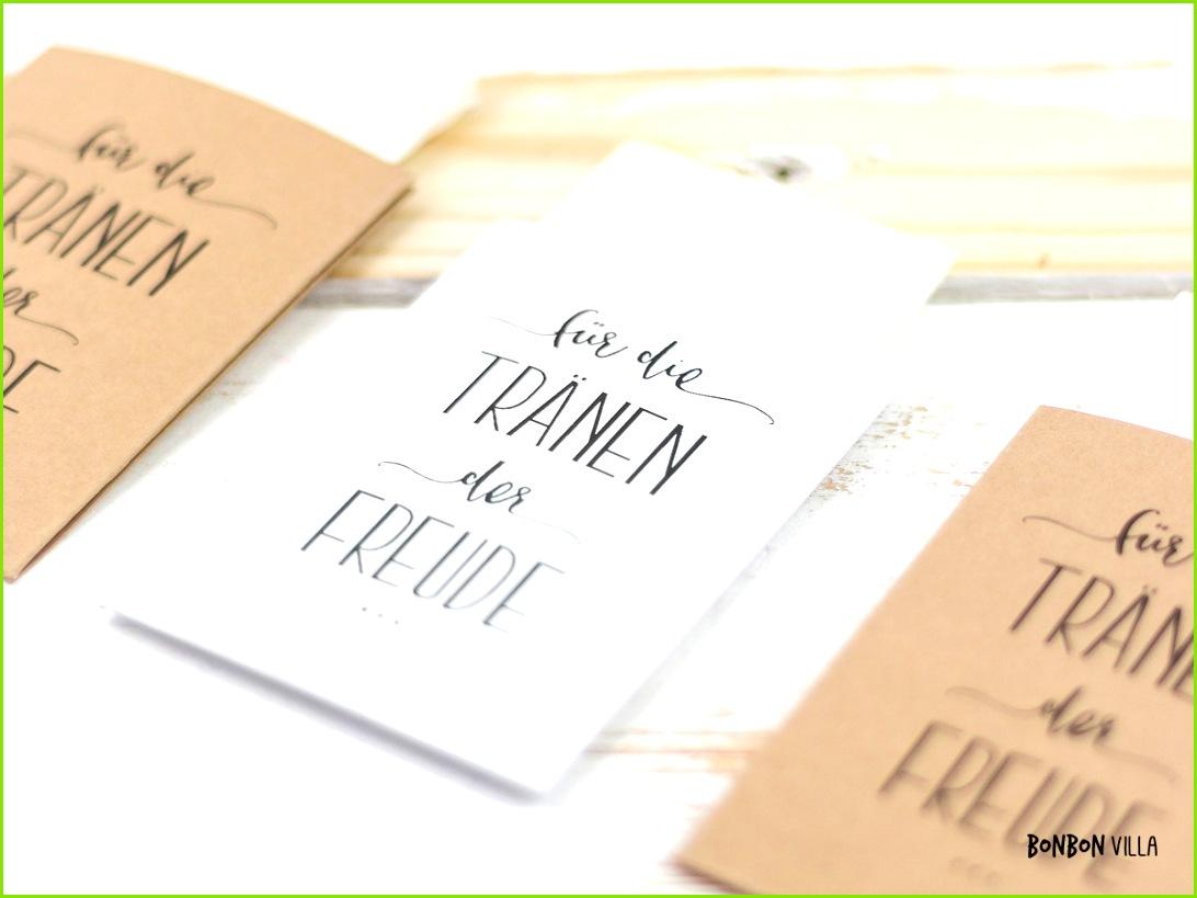 Taschentücher für Freudentränen hochzeit weiß