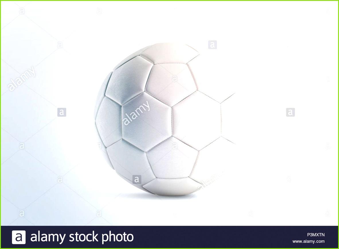 Leere weiße Fußball mock up Vorderansicht 3D Rendering Leer Fußball Kugel Mockup