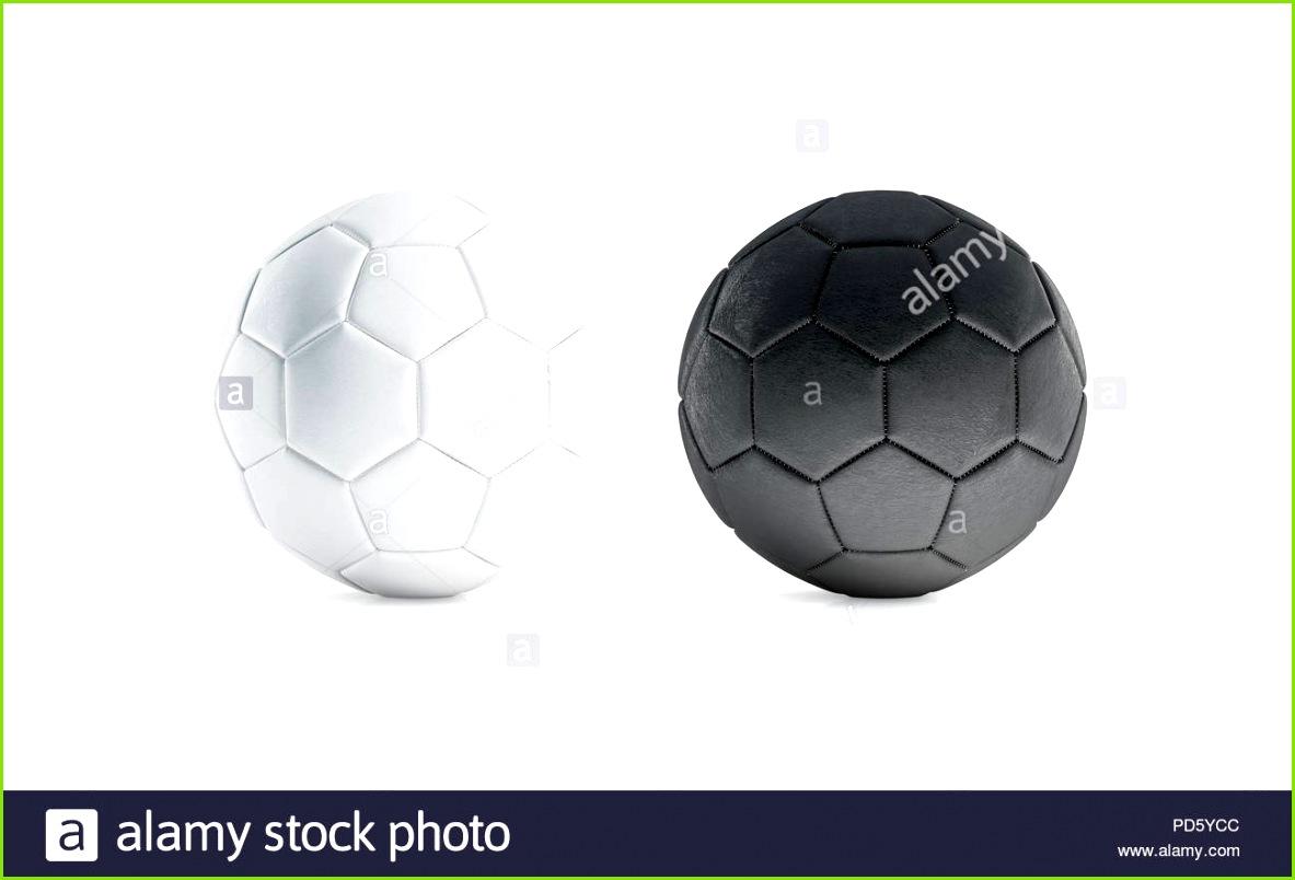 Leere schwarze und weiße Fußball mock up isoliert 3D Rendering Leer Fußball