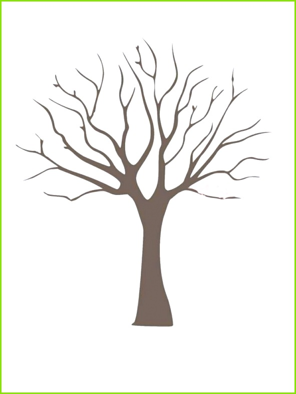 DIY Fingerprint Tree Poster Instant Download Small
