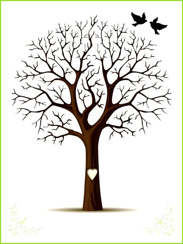 Fingerabdruck Baum Vorlage & andere Motive kostenlos zum Ausdrucken