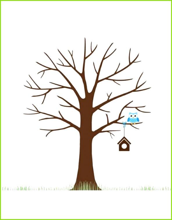 fingerabdruck baum vorlage diy bäume gestalten basteln einfach vogelhaus eule