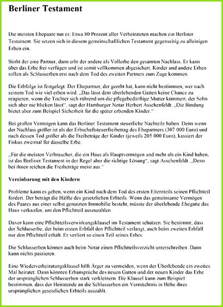 Berliner Testament Muster Pdf Modell Schreibe Ich Mein Testament Vorlage Erstaunlich – S8airsoftgames