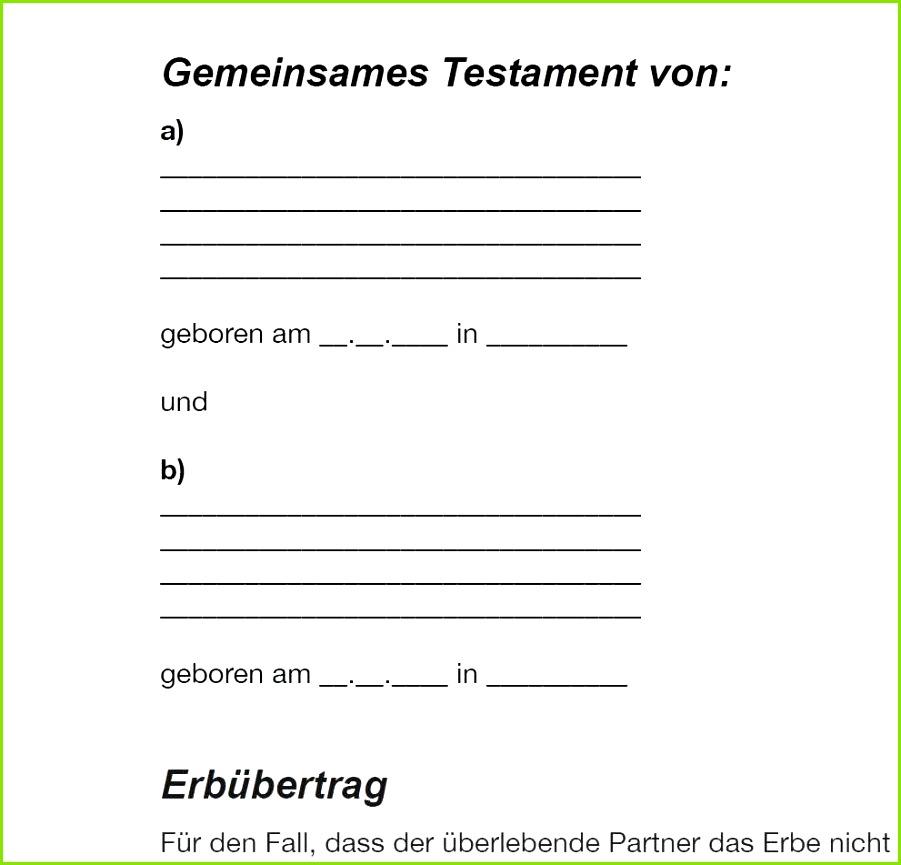 Berliner Testament Muster Kostenlos Idee Schreibe Ich Mein Testament Vorlage Erstaunlich – S8airsoftgames