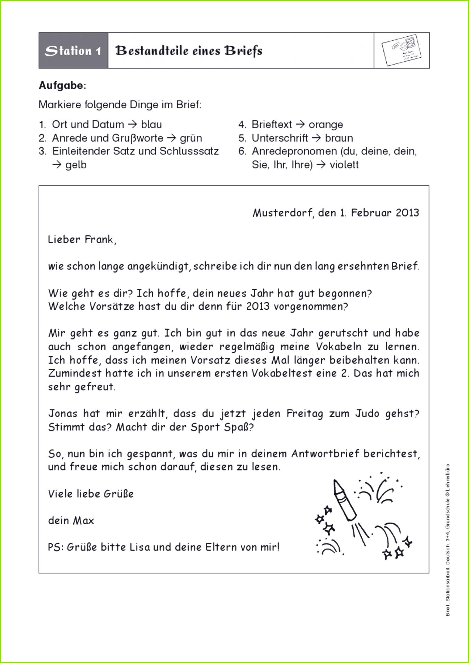 Bildergebnis für brief schreiben 3 klasse Brief Schreiben Deutsch Muster – Vodafone Beschwerde Vorlage