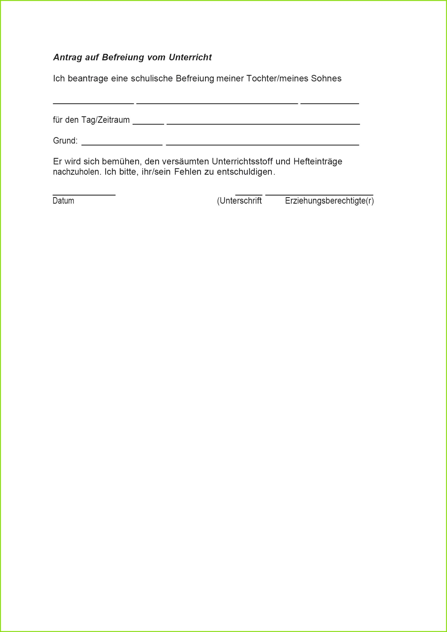 Inhaltsverzeichnis Vorlage Zum Ausdrucken Für Die Schule Genial Beurlaubung Schule Vorlage Inhaltsverzeichnis