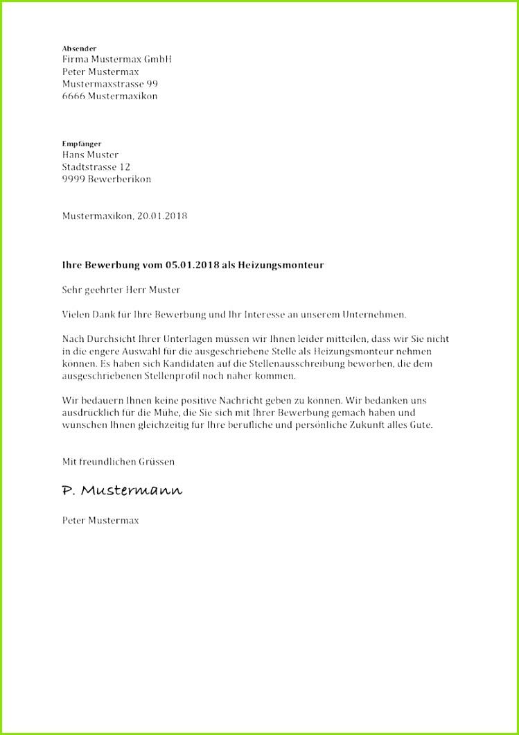 15 Bewerbung Absage Vorlage
