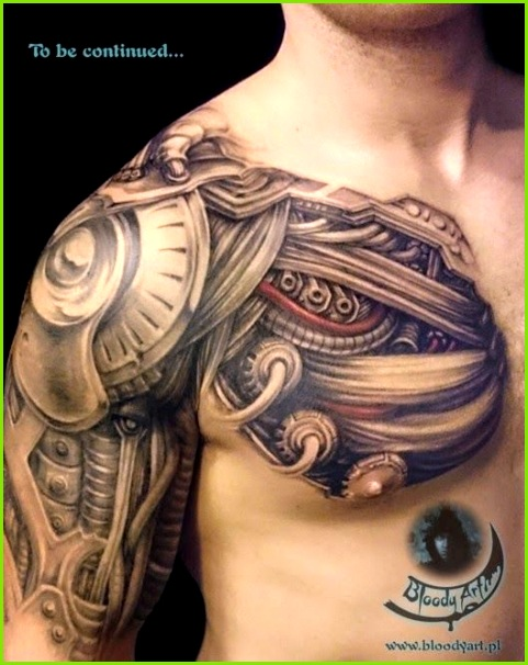 biomechanical tattoo over shoulder Google Search