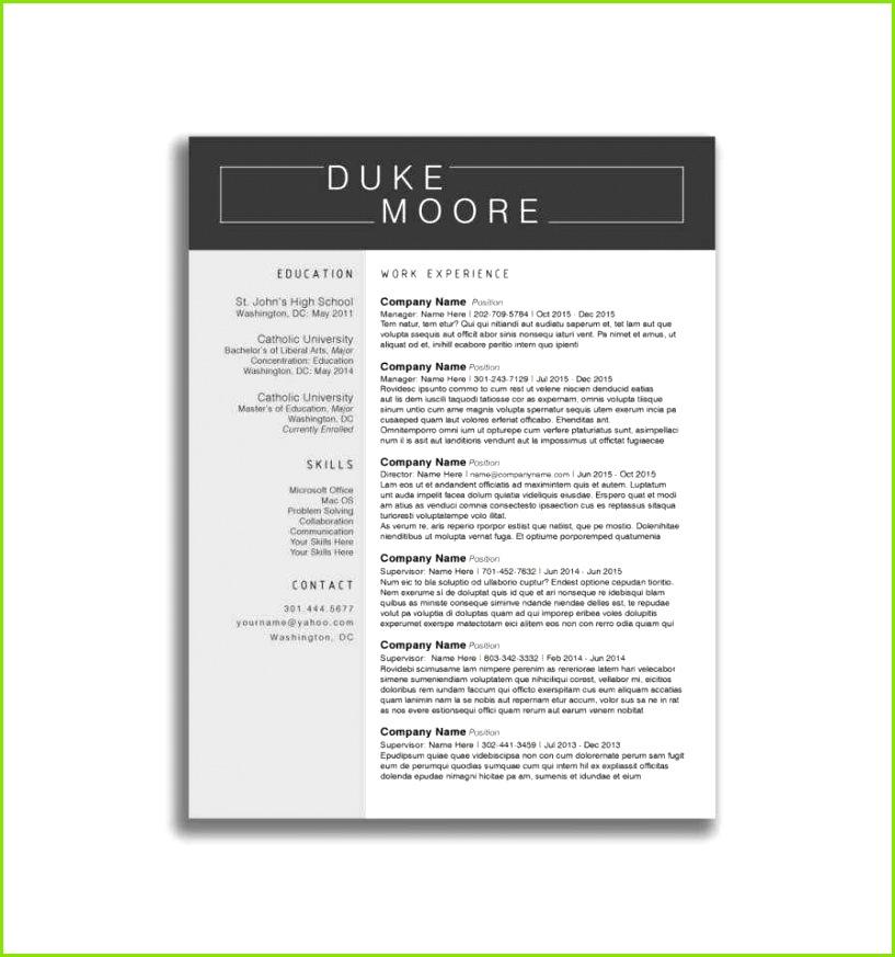 Amerikanischer Lebenslauf Vorlage Word Luxus Resume Template Indesign Free format Resume Template Docx Best Cv