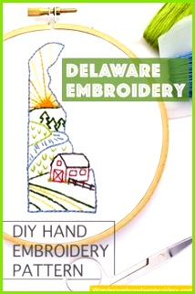 Delaware Hand Embroidery Pattern This nature themed DIY embroidery pattern is perfect for