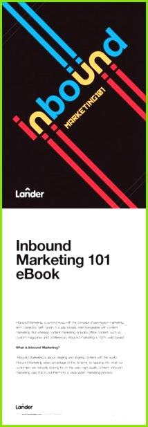 LANDER Inbound Marketing 101 The end of Interruption Marketing Magazine with 37 pages