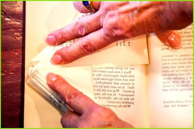 Orimoto Bücher falten – aus Alt mach Kunst