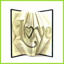 Book folding patterns LOVE 278 folds Tutorial Valentine s Day DIY t Heart Buch FaltmusterBuch Falten
