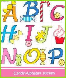 Süßigkeiten Alphabet sticken Entdecke zahlreiche kostenlose Charts zum Sticken