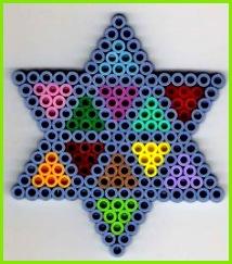 Stern Bügelperlen Star perler beads