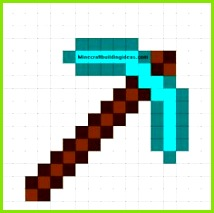 Diamond Pickaxe Minecraft Ideen Minecraft Sachen Bügelperlen Vorlagen Basteln Mit Kindern Stickerei