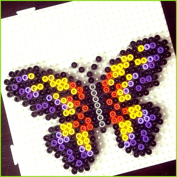 26 Erstaunlich Bügelperlen Vorlagen Schmetterling Abbildung