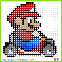 Mario Kart Bügelperlen Vorlage Auf buegelperlenvorlagen kannst du eine große Auswahl an Bügelperlen