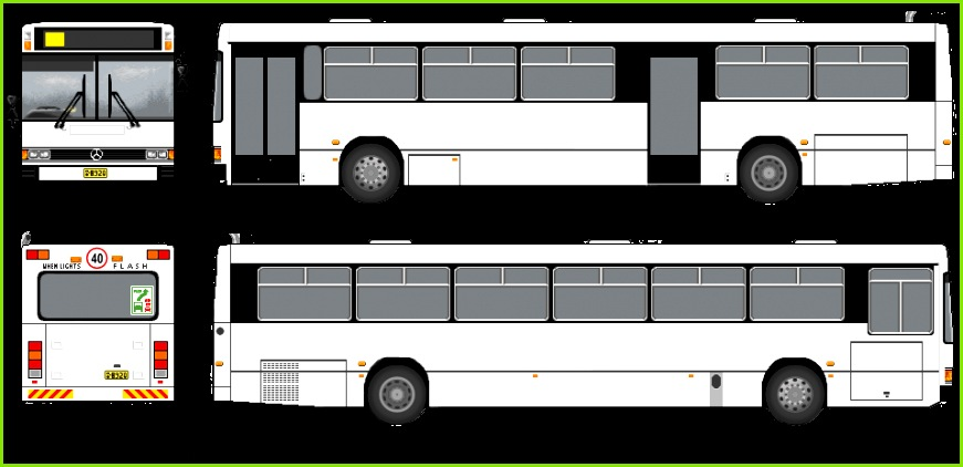 Bus Template by Belldandy1 Stock