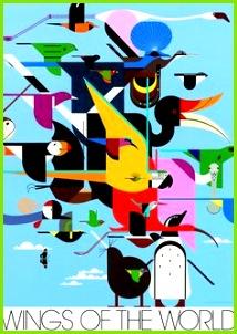 Wings of the World New Kunstunterricht Exotische Tiere Charley Harper Porträt
