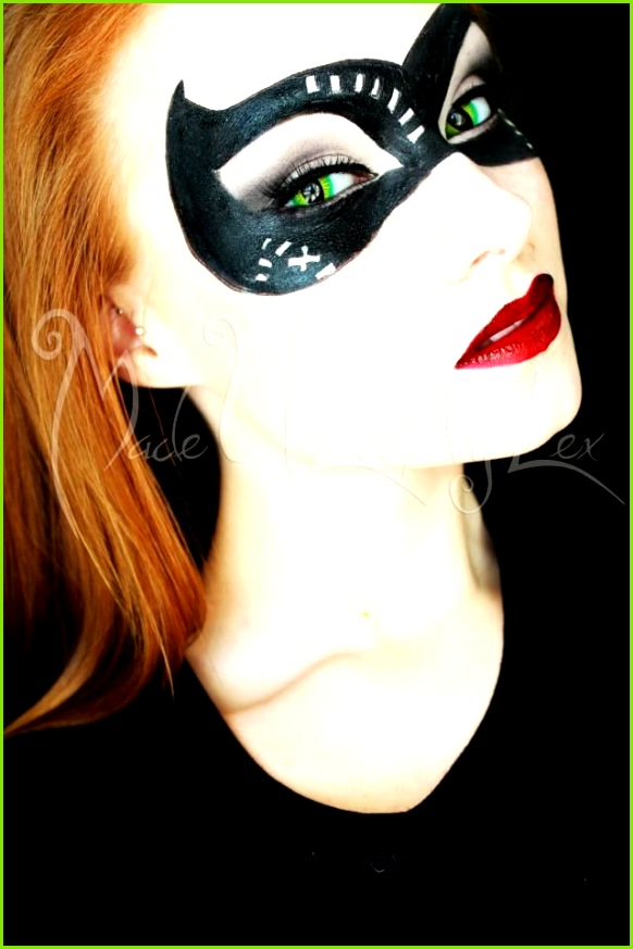 Cat Woman Mask Fasching Selbstgemachtes Catwoman kostüm Catwoman Cosplay Catwoman Make