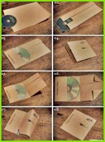 CD Hüllen aus Din A4 Blättern falten