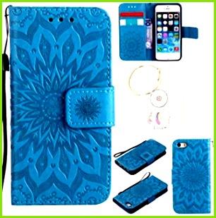 für iPhone SE 5s 5 Hülle Geprägte Muster Handy hülle Tasche