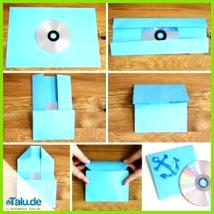 CD Hüllen aus Papier falten Vorlage zum Basteln