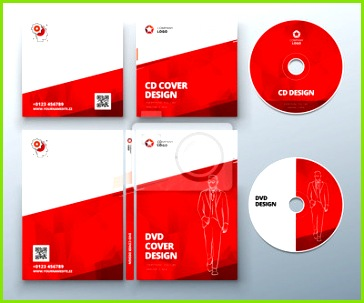 Bild CD Hülle DVD Hülle Design Red Corporate Business Vorlage für CD