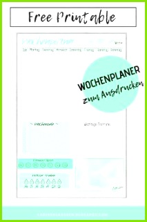Free Printable Wochenplaner zum Ausdrucken