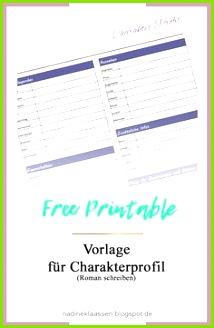 Free Printable für Charakter Profil