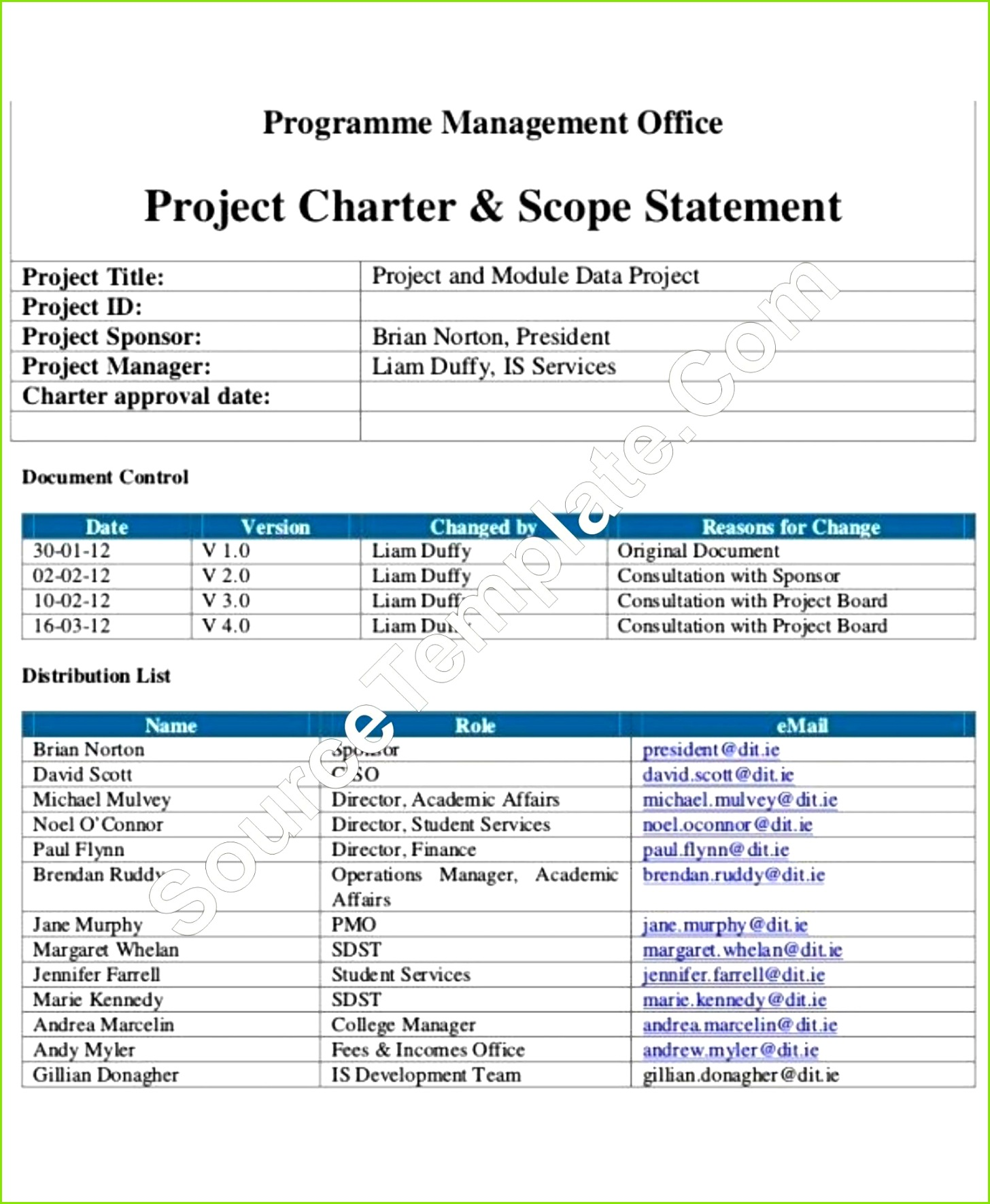 project management institute charter template printable free downloa docs example 1600