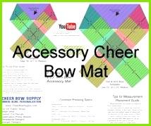 DIY Cheer Bow Long Tail Softball Cheer Bow Template Mat Softball Cheers Softball Bows