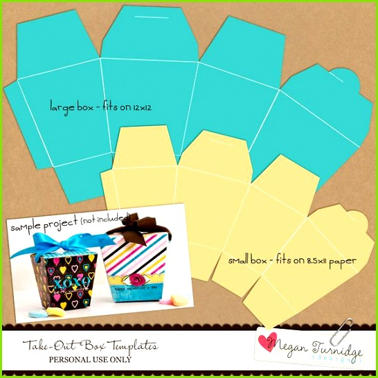 Take Out Box Templates FREEBIE Designs by Megan Turnidge Digital Scrapbooking and Crafting Blog Tags & Packaging