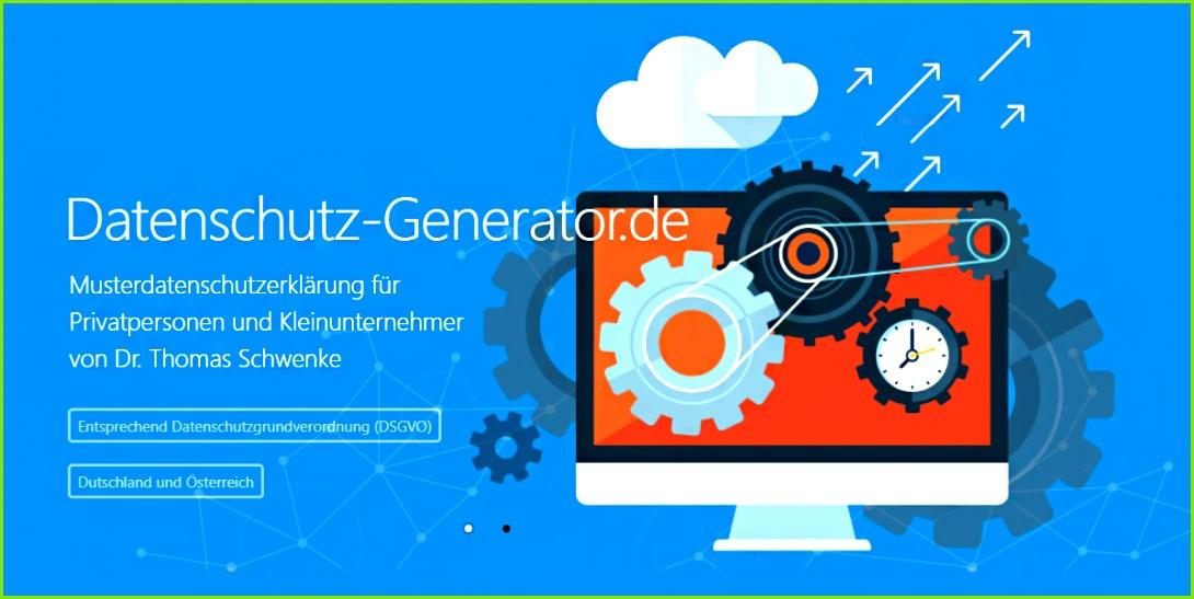 DSGVO Datenschutzerklärung Generator für Webseiten Shops Blogs und Social Media Datenschutz Generator