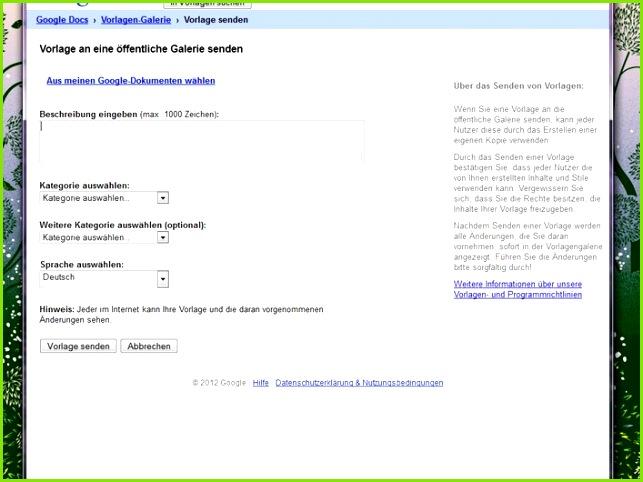 Google Docs 50 coole Vorlagen im Web