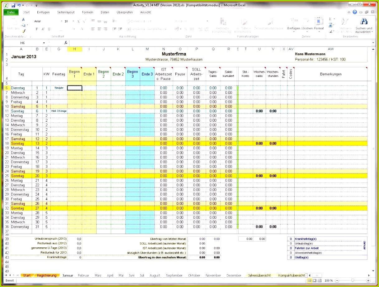Stundenzettel Excel Vorlage Kostenlos Erstaunlich 7 Arbeitszeiterfassung Excel Kostenlos Liste Excel Erstaunlich 7 Datev Arbeitszeitdokumentation