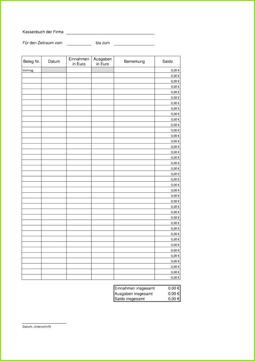 Datev Kassenbuch Excel Download mit Recent Kassenblatt Vorlage Datev Fabelhafte Excel Kassenbuch Vorlage