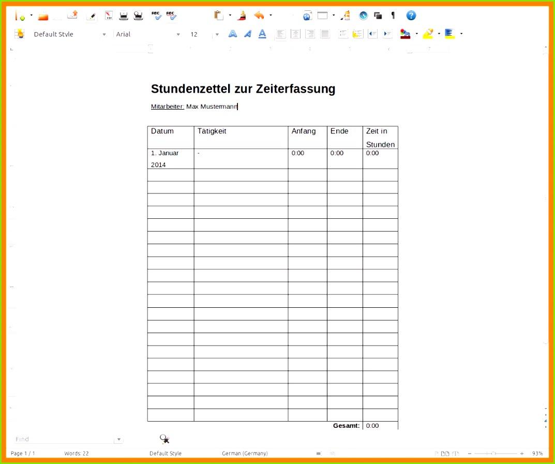 muster stundenzettel minijob 13 muster stundenzettel minijob Datev Vorlage Zur Dokumentation Der Taglichen Arbeitszeit Pdf