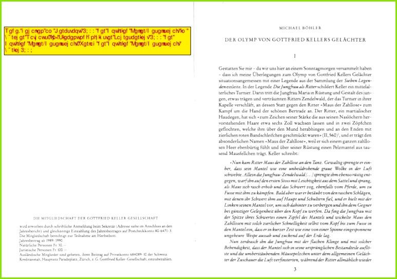PDF Der Olymp von Gottfried Kellers Gelächter