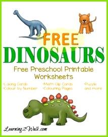 Free Preschool Printable Worksheets Dinosaurs Lehrreich Vorschule Bildung Kita Vorschuldinosaurier